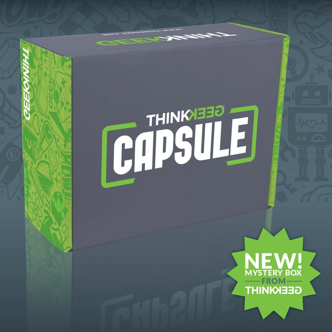 Introducing ThinkGeek's new limited-run mystery box of geeky surprises delivered to your door each month! https://t.co/ZTF9dwmwRY