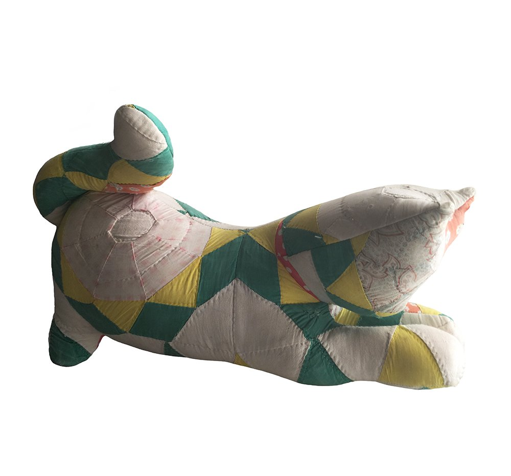 Add a bit of the past to your #vintagehome! #quiltedcat #stuffed #toy...