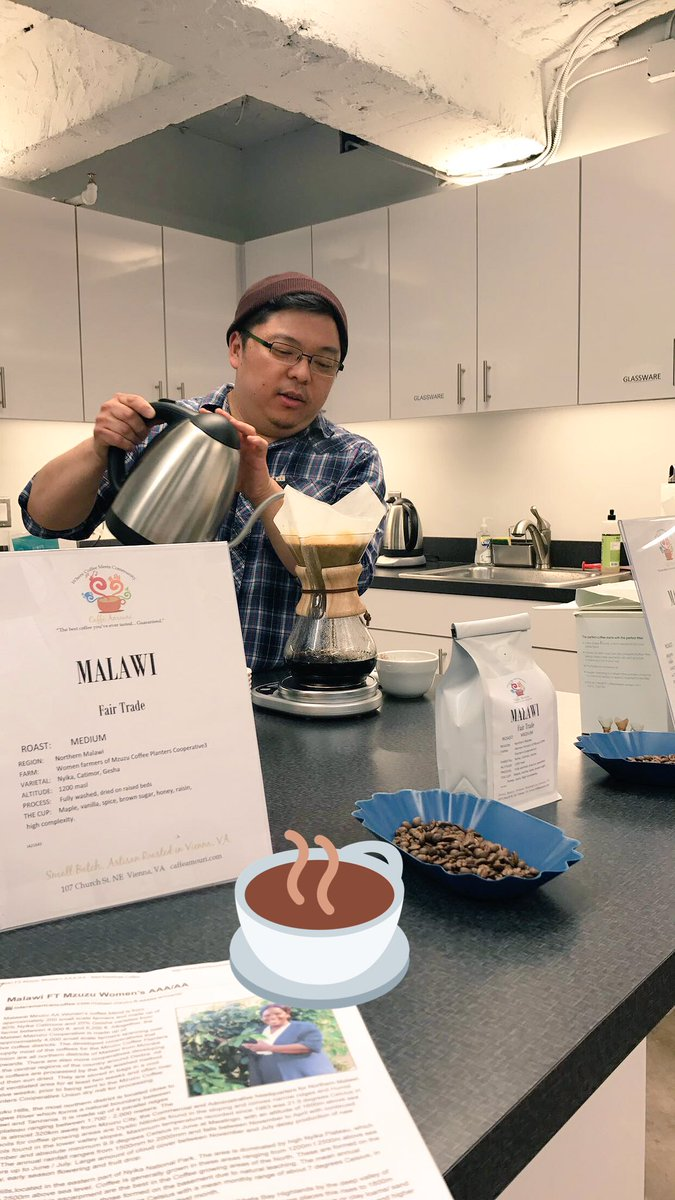 The morning never tasted so good Taste testing new #coffee in #Dupont - thanks for the energy @caffeamouri! #CoworkDC #LoveWhereYouWork<br>http://pic.twitter.com/PolcEGoljA