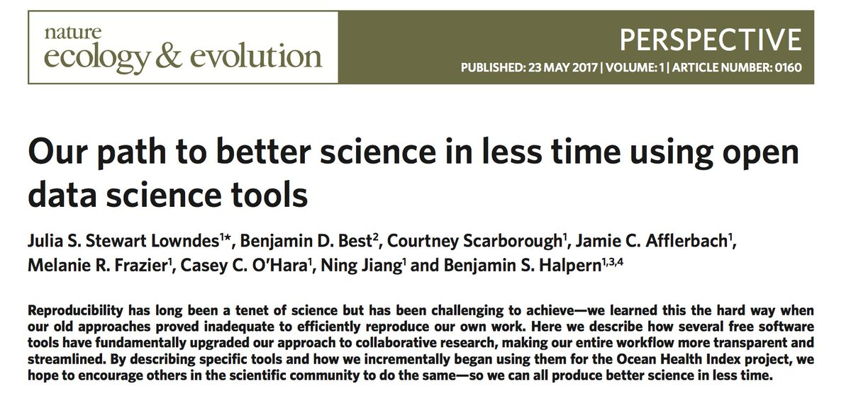 Excited to say that our pub is out! How #openscience #datascience #rstats has improved our science  https://www. nature.com/articles/s4155 9-017-0160 &nbsp; …  cc @OHIscience<br>http://pic.twitter.com/MEbsNAfnOj