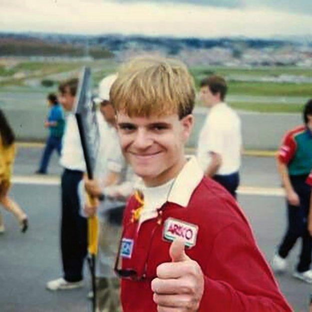 Oh Bless! Happy Birthday to Rubens Barrichello who celebrates his 45th today. feliz Aniversário