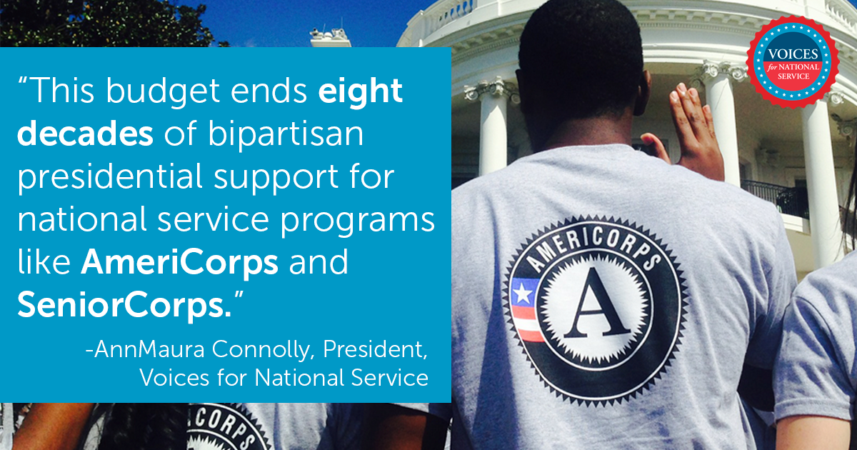 .@WhiteHouse confirm plan to shutdown @NationalService programs like @AmeriCorps Take action https://t.co/VfsS3NFfxG https://t.co/UoGXI1km8I
