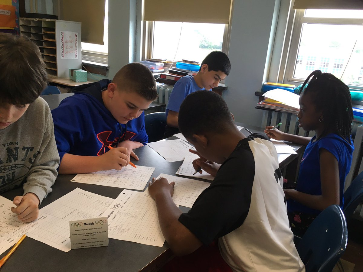 Grade 6 Math Students Collecting Data To Determine The Mean, Median, Mode  And Range
