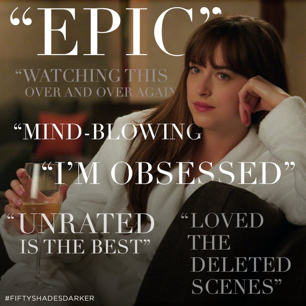 Here's what fans have to say about #FiftyShadesDarker Unrated. https:/...
