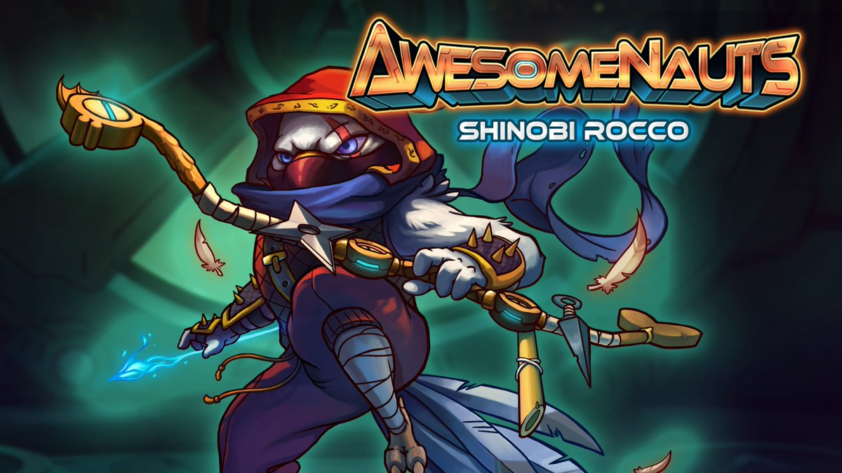 Awesomenauts is going free to play on Steam in 24 hours! RT to have a shot at winning a Shinobi Rocco skin! https://t.co/jjqfCkMyOp