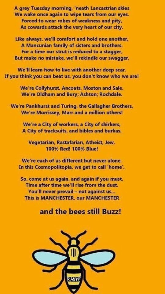 Inspirational poem at this sad time #our Manchester <br>http://pic.twitter.com/81K3Wlkp0e