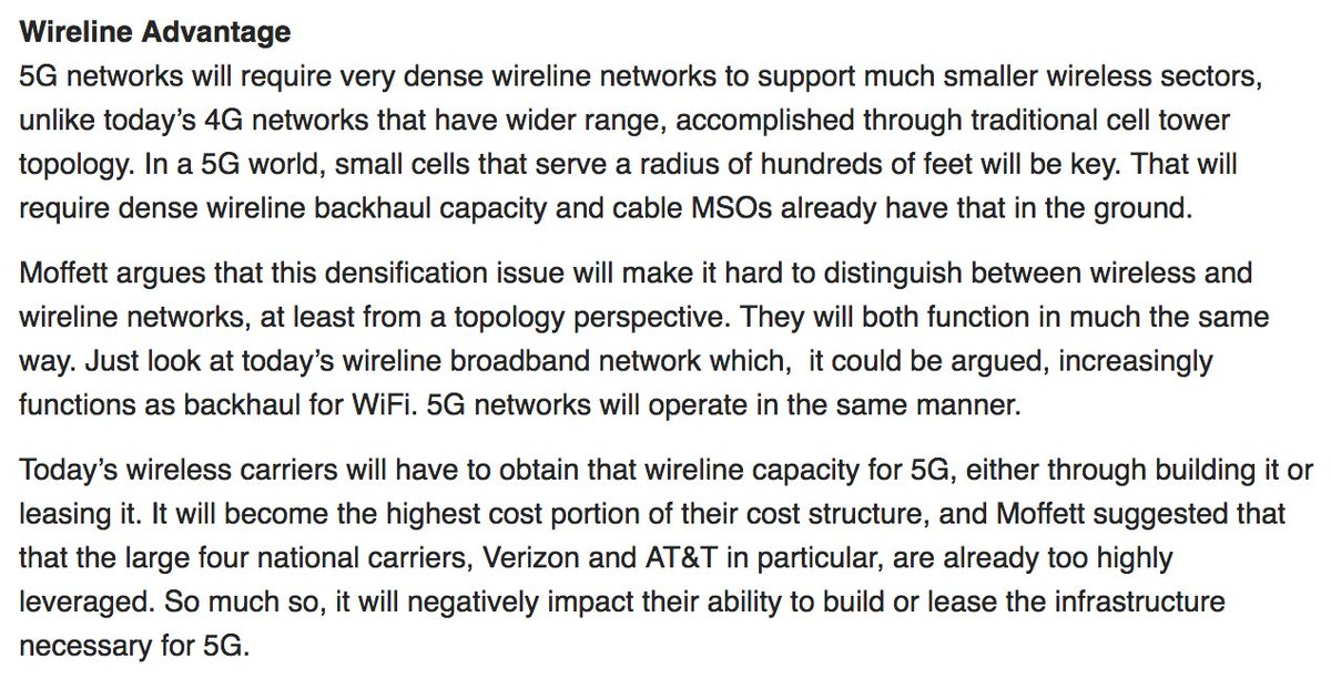 &quot;Moffett: At the End of the Day, Cable Industry 5G May Prevail Over All Others&quot; #malone <br>http://pic.twitter.com/IzP1PxT5x8