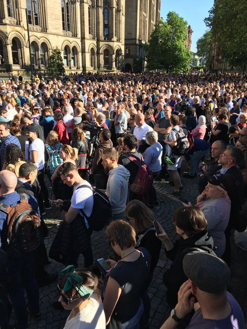People of Manchester stand united against terrorism