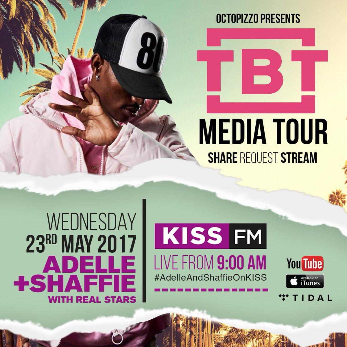Tomorrow 9am catch me live on @Kiss100kenya with @ADELLEO &amp; @ShaffieWeru  #TBT  https:// youtu.be/X3vvoh6OFXI  &nbsp;  <br>http://pic.twitter.com/c9sbjul6hp