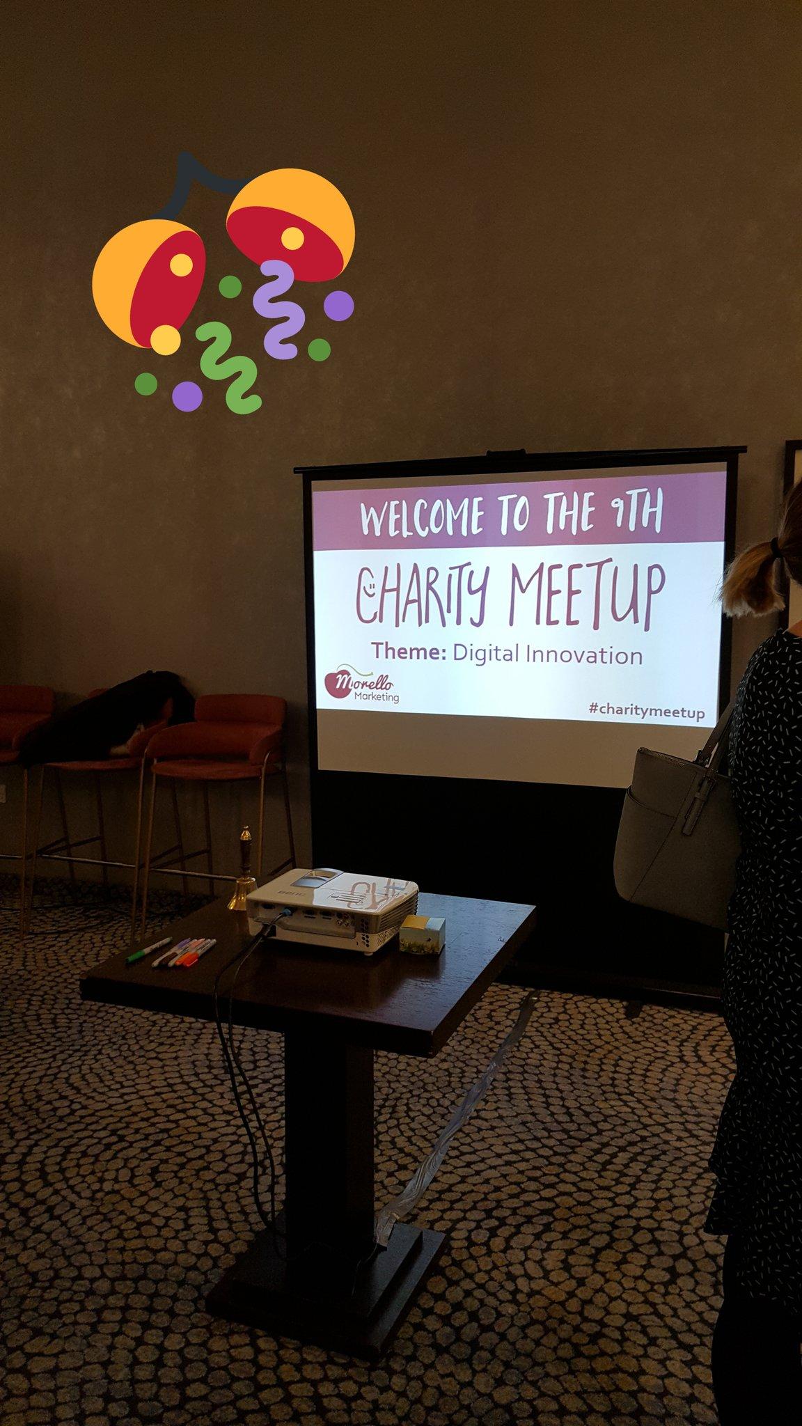 All ready for the #CharityMeetup on #DigitalInnovation @goreckidawn https://t.co/sWuMehM8Gj