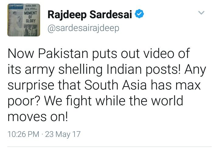 Lol @sardesairajdeep and you trust a Pakistani army video. Any surprise that India has most corrupt media?