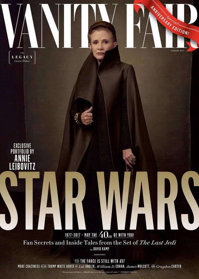 #VanietyFair has given us a great look at #theLastJedi cast.  #starwars #leia #carriefisher #kyloren #fin #rey #luke #skywalker<br>http://pic.twitter.com/LI9cSx0bK6
