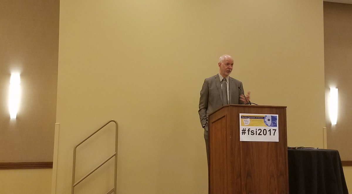 #fsi2017 - Nicholas Burbules delivering the opening keynote: Technology and Possibilities for #Multimodal #Instruction  #HigherEd #eLearning<br>http://pic.twitter.com/v9TZCZ3mf7