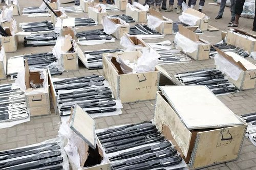 Another container-load of arms found in Lagos port