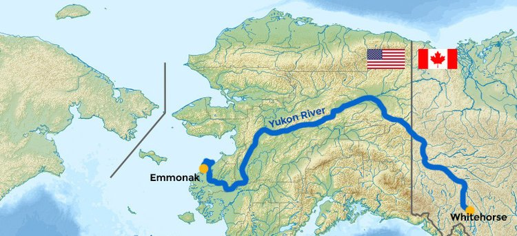 NWS APRFC On Twitter Did You Know The Yukon River Is Miles - Yukon river on us map
