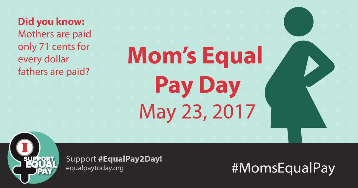 For a woman who is the head of her household, the pay gap stands as a barrier to her achieving upward socioeconomic mobility. #MomsEqualPay