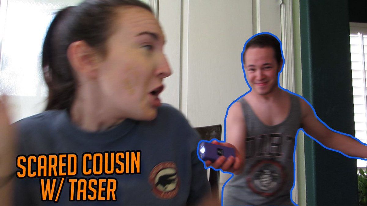 Scared My Cousin With a Taser #prank #taser #cousin #youtube  https://www. youtube.com/watch?v=FF5b0S ZCPgw&amp;feature=youtu.be &nbsp; … <br>http://pic.twitter.com/BpaOB7v8t5