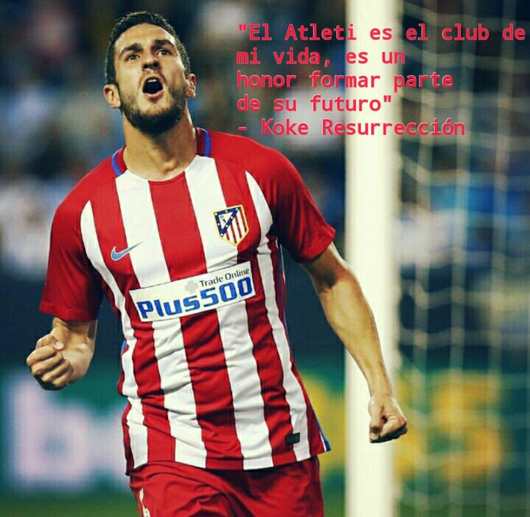 Thank you @Koke6  You&#39;re born an Atleti player   #AupaAtleti <br>http://pic.twitter.com/OjwxQOjuUa