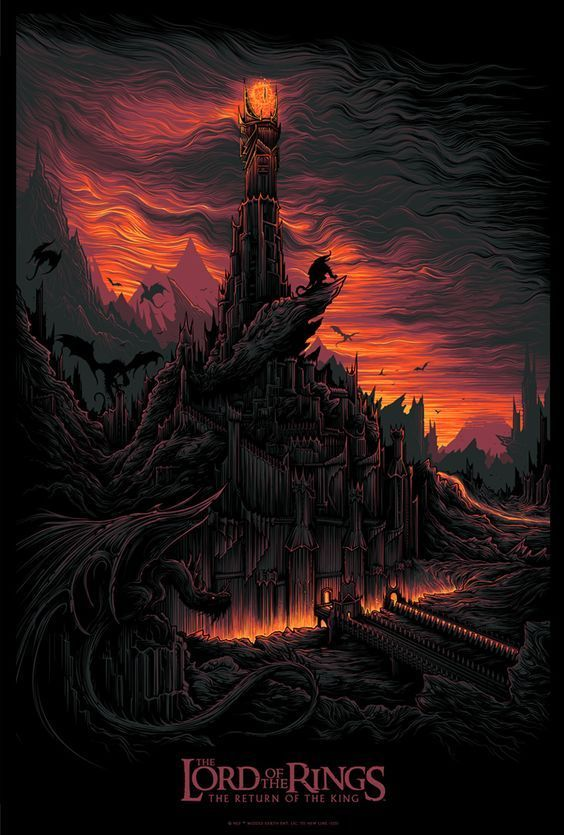 Artists continue to make beautiful #MoviePoster artwork for Lord Of The Rings and we love it!  <br>http://pic.twitter.com/wVgNEZrmvM