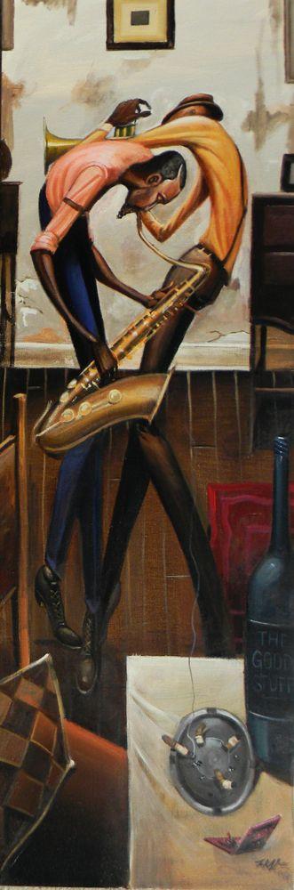 Jam Session by Frank Morrison #Jazz #Artpic. http:// twib.in/l/xXAogaz4LAaq  &nbsp;    http:// twib.in/l/dbK47BGRbExb  &nbsp;   via @TheJazzSoul #Jazzpassion<br>http://pic.twitter.com/iBmokblBL9