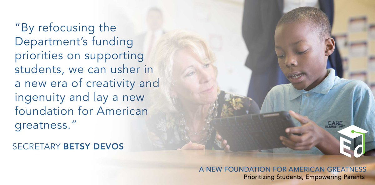 Devos Invested More Money In Brain >> Betsy Devos On Twitter Our 2018 Budget Makes A Historic Investment