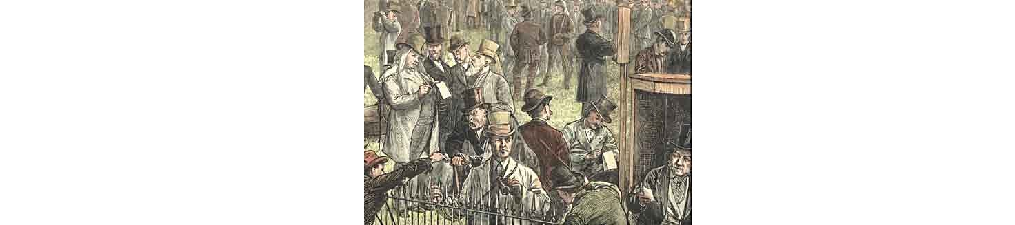 From @OldChicagoHist: In 1837 horse gambling primary Chicago past time. Races impromptu on prairie w open betting. https://t.co/8oTcXZy2XO