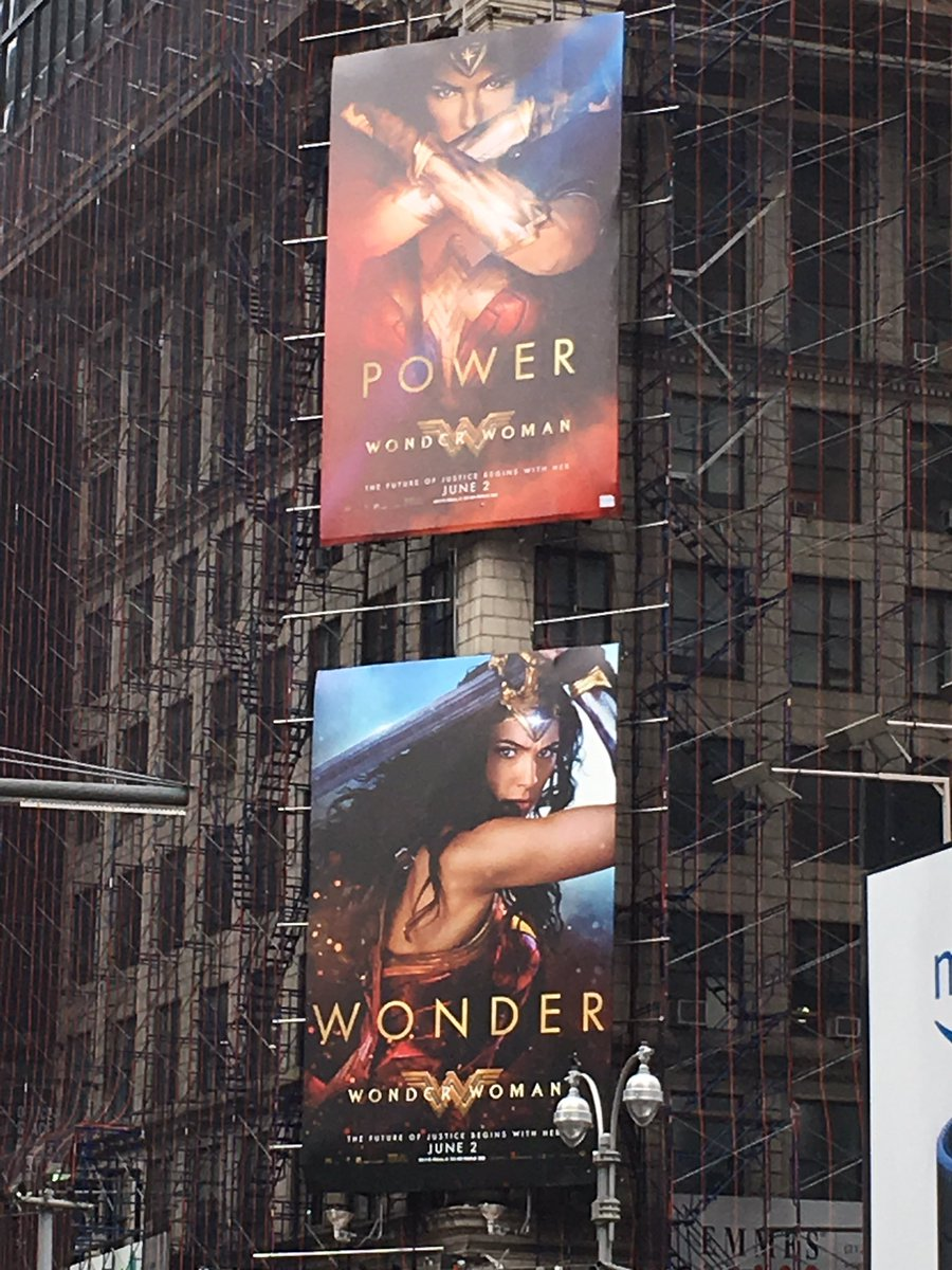 Hey @GalGadot you&#39;re in #NYC! #Wonder #Power #WonderWoman  can&#39;t wait for @WonderWomanFilm to come out!<br>http://pic.twitter.com/JVCqyV0B3D