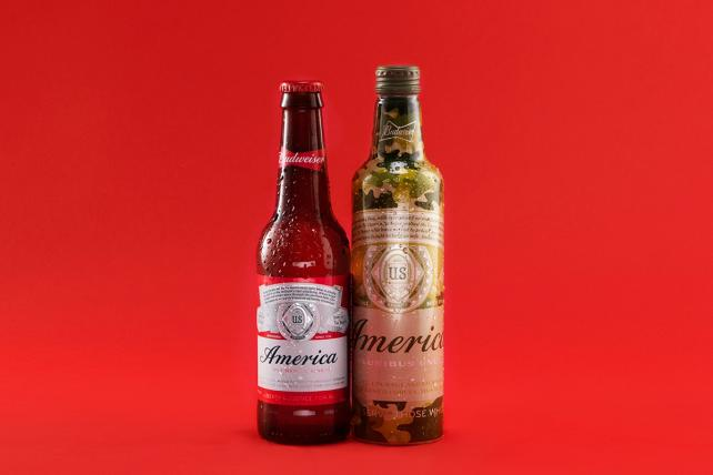 Drink or salute? @Budweiser makes patriotic play with camo bottles. https://t.co/qH9JiRTQYF https://t.co/A06xlTbMDs