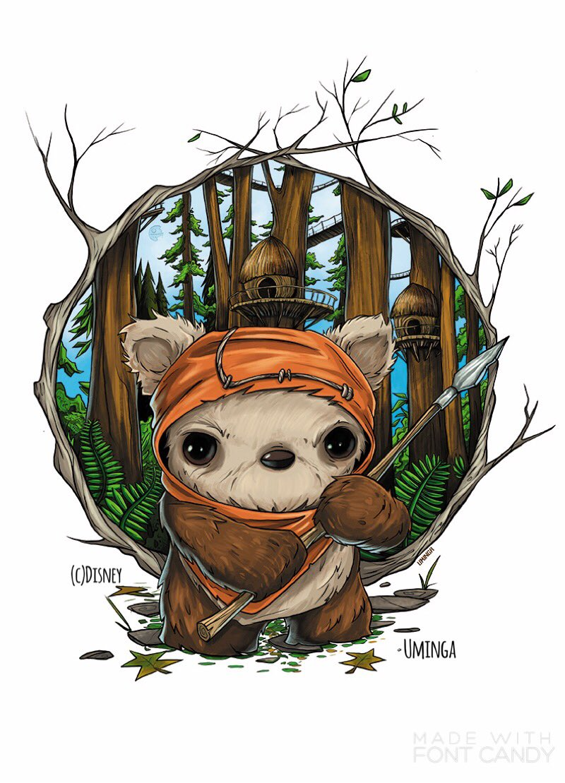 Come out to @Disney &#39;s Wonderground Gallery in @DisneylandDTD this Sat. May 27th for the releases of my new #Ewok piece. #starwas #jedi <br>http://pic.twitter.com/RY6COsOR1V