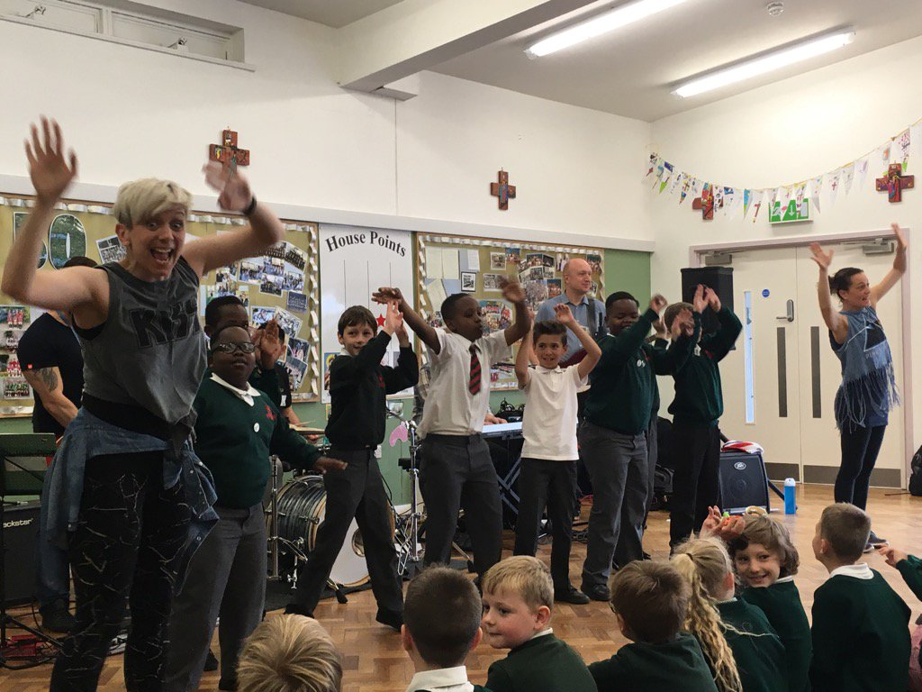 We enjoyed the visit from PAS Rock Band today for a trip through the music years.