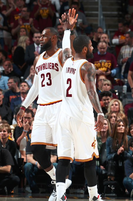 The @cavs get a combined 76 PTS from Kyrie & LeBron.  CLE gains a 3-1 series lead & defeat the @celtics 112-99