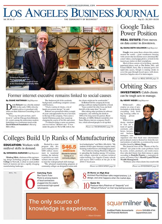 Have you read this week's Los Angeles Business Journal yet? https://t.co/hKJnwGws4y