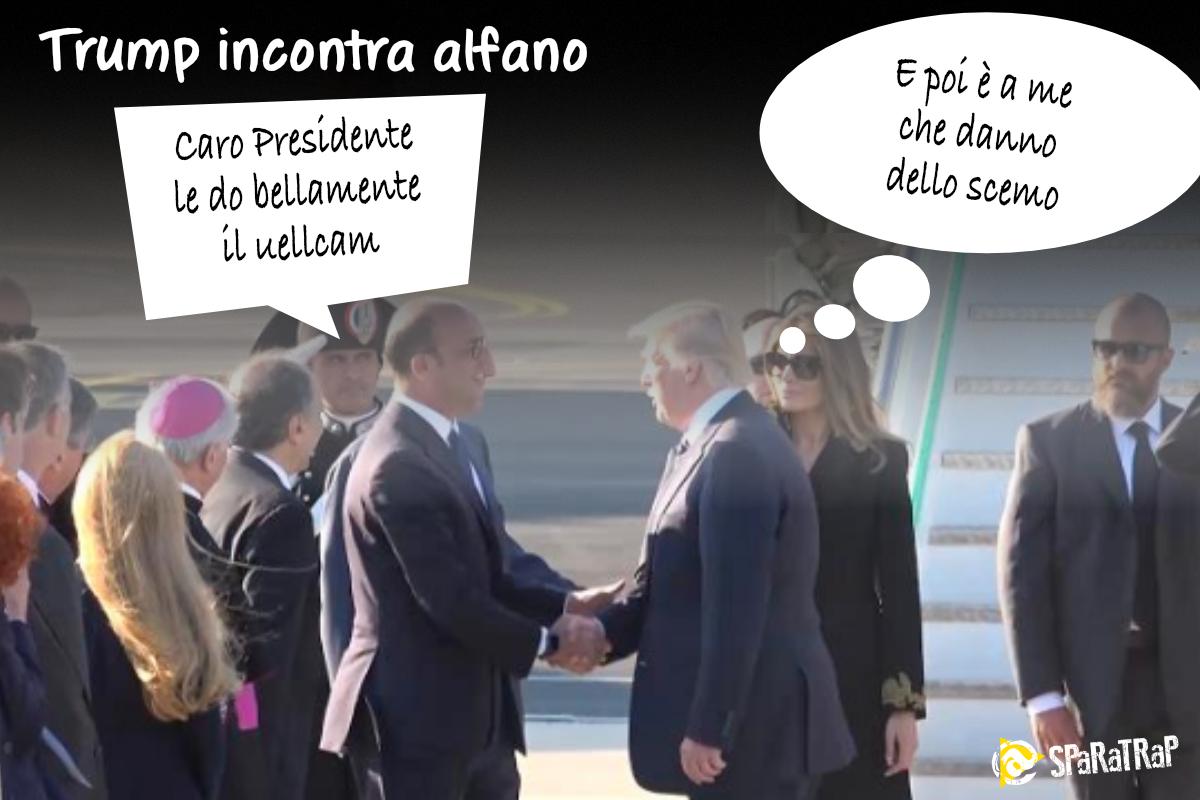 #Alfano dà bellamente il benvenuto a #Tr...