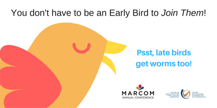 You don&#39;t have to be an Early Bird to Join Them @MARCOMconf  Check out the program  http:// ow.ly/8yJM30bZil3  &nbsp;   #marketing #strategic <br>http://pic.twitter.com/HUJezfhWX1