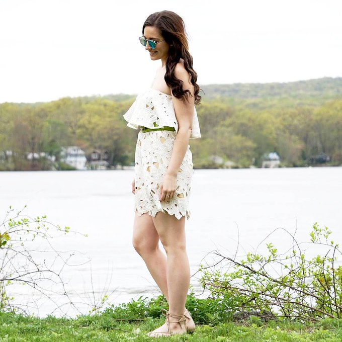 White Strapless MDW Outfit