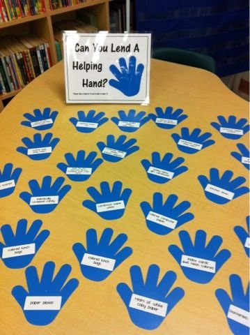 """A1: During Open House encourage parents to volunteer for specific jobs. Then they know you need more than """"shelvers."""" #txlchat https://t.co/pJ2BySZG3c"""