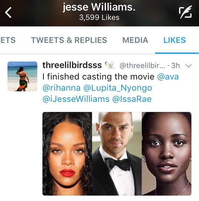 Jesse Williams Is Here For The Role Of Rihanna S Love