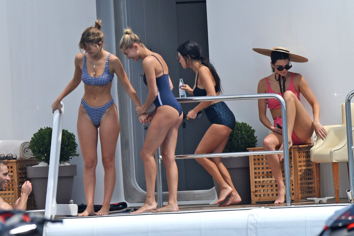 Watch Hailey baldwin and cami morrone in bikini and swimsuit on a yacht in cannes video