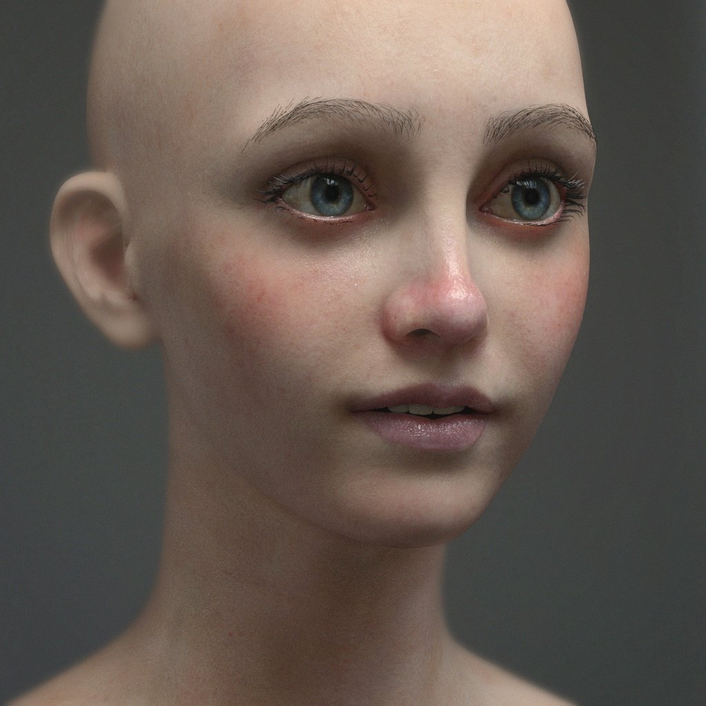 Few more tweaks on the shader. Still needs more work but moving on to other things #arnoldrender #solidangle #portrait #mari #zbrush<br>http://pic.twitter.com/HW7K0bRya0