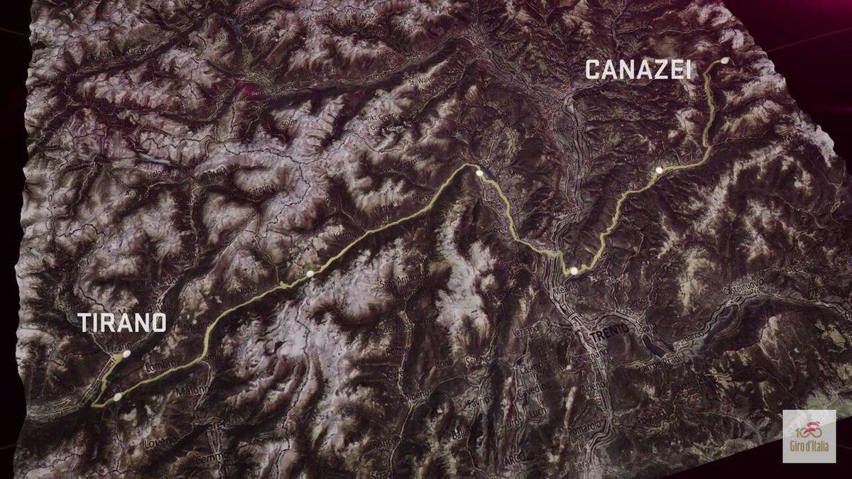 GIRO d'Italia 2017 Tirano Canazei Streaming Gratis Tappa 17: altimetria, mappa percorso, ultimi km in Diretta Rai, orario