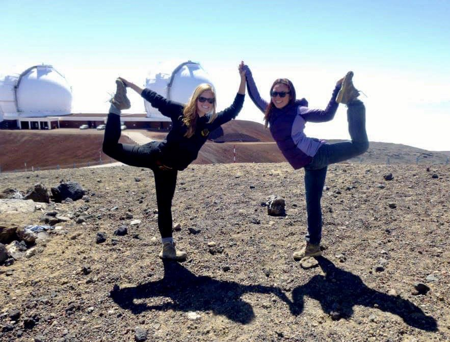 What do astrophysicists do at 14,000 ft? Observe the universe and Dance.  #ScientistsWhoYoga #maunakea #dancer #natarajasana<br>http://pic.twitter.com/wINN9FmTHA