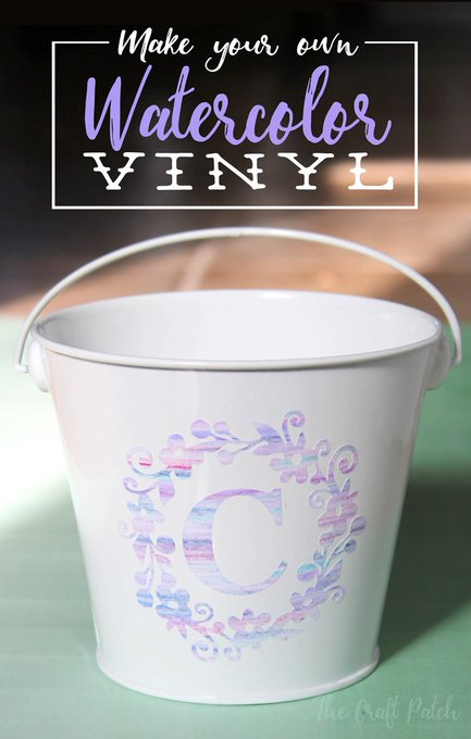 Make Your Own Watercolor Vinyl