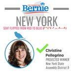 BREAKING: Bernie delegate and 25 year elem teacher @christineNY09 has flipped a solid Trump New York State assembly district! #FeelTheBern