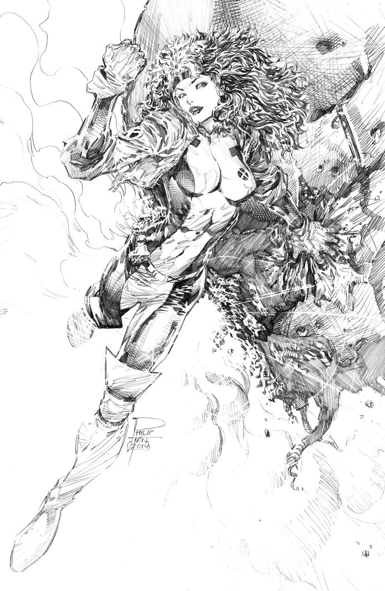 Rogue xmen mutant marvel comics pencil sketch art commission アメコミ 漫画pic twitter com dhiqvzi45b