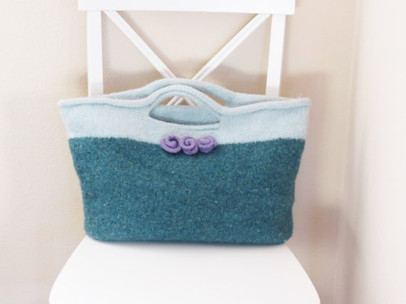 Felted Purse Pattern, Knit Bag Pattern, Knitted Purse, Knitting Pattern, Tote, Farmers Market Bag