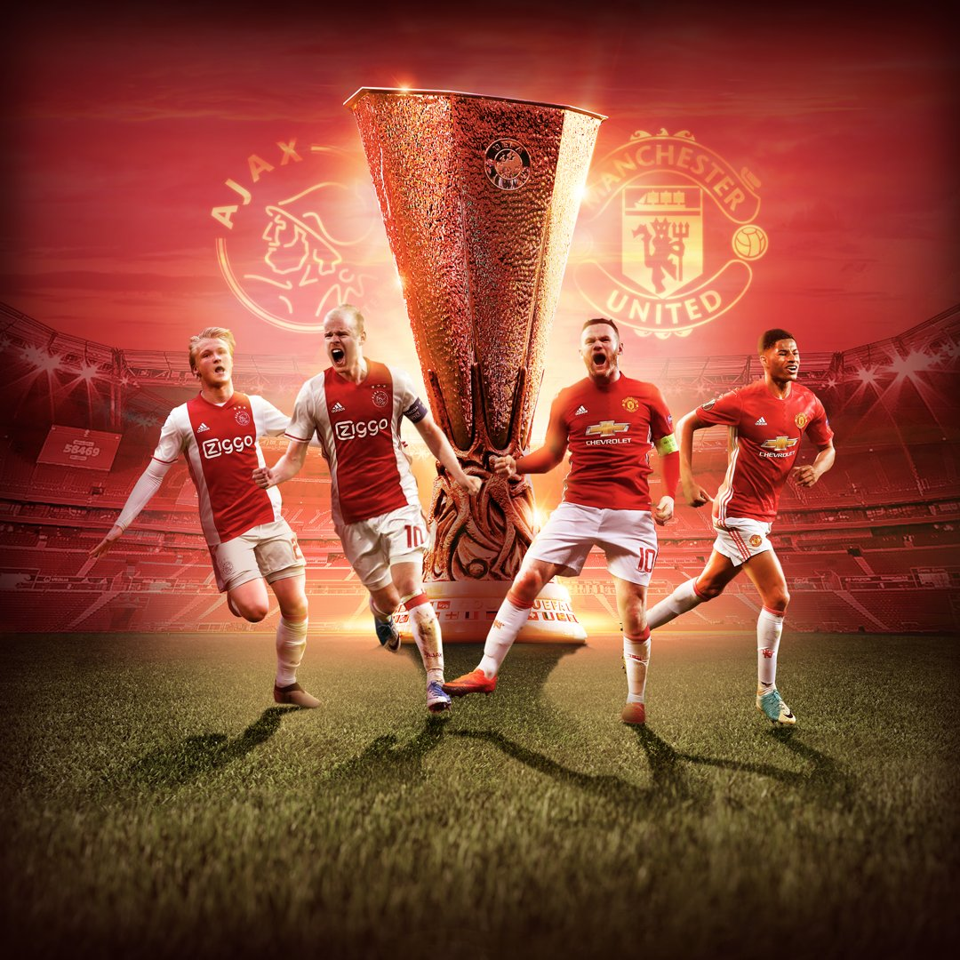 Rojadirecta AJAX MANCHESTER UNITED Streaming Gratis su TV8, Video YouTube e Facebook Live-Stream Finale Europa League 24 maggio 2017