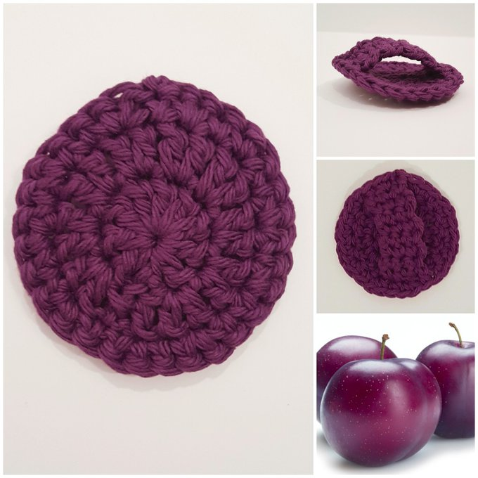 Plum Passion Face Scrubbies With Handles