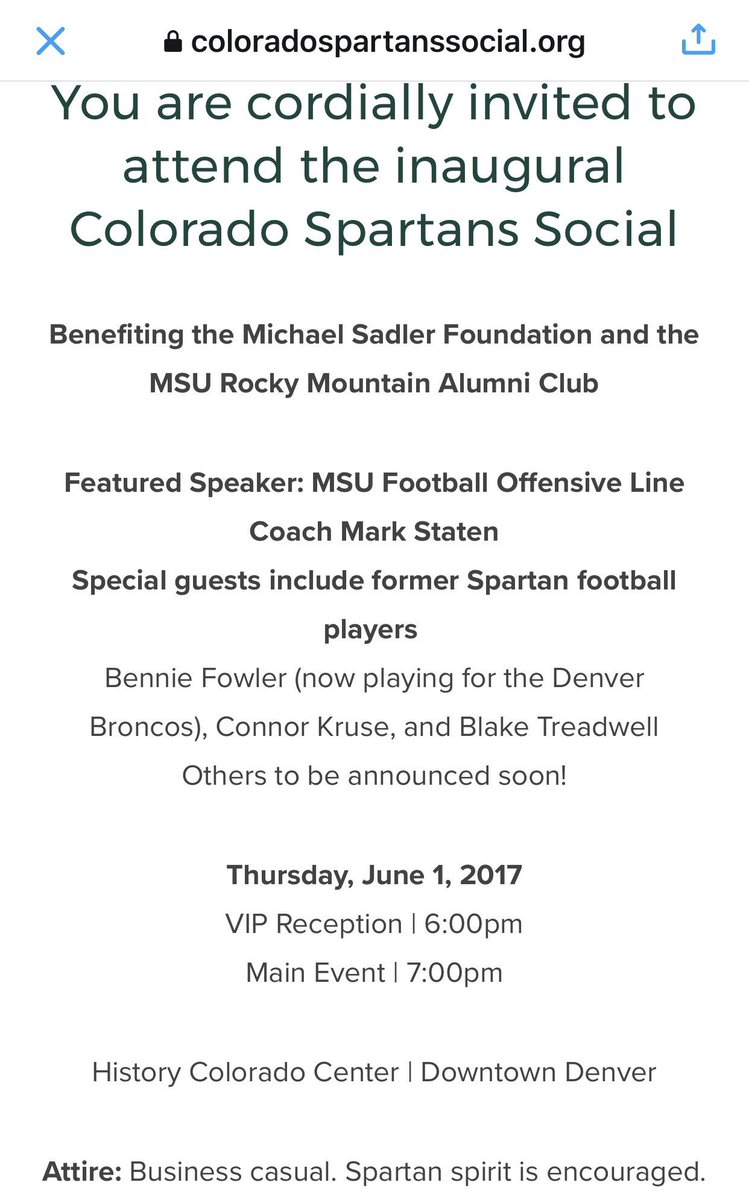 The @Sadler3_Fndn would 💚💚💚 for @Smashburger & Spartan alum Tom Ryan & Jody to come join us celebrating Mike Sadler on June 1 & 2!😆 https://t.co/UD3Rr88kqx