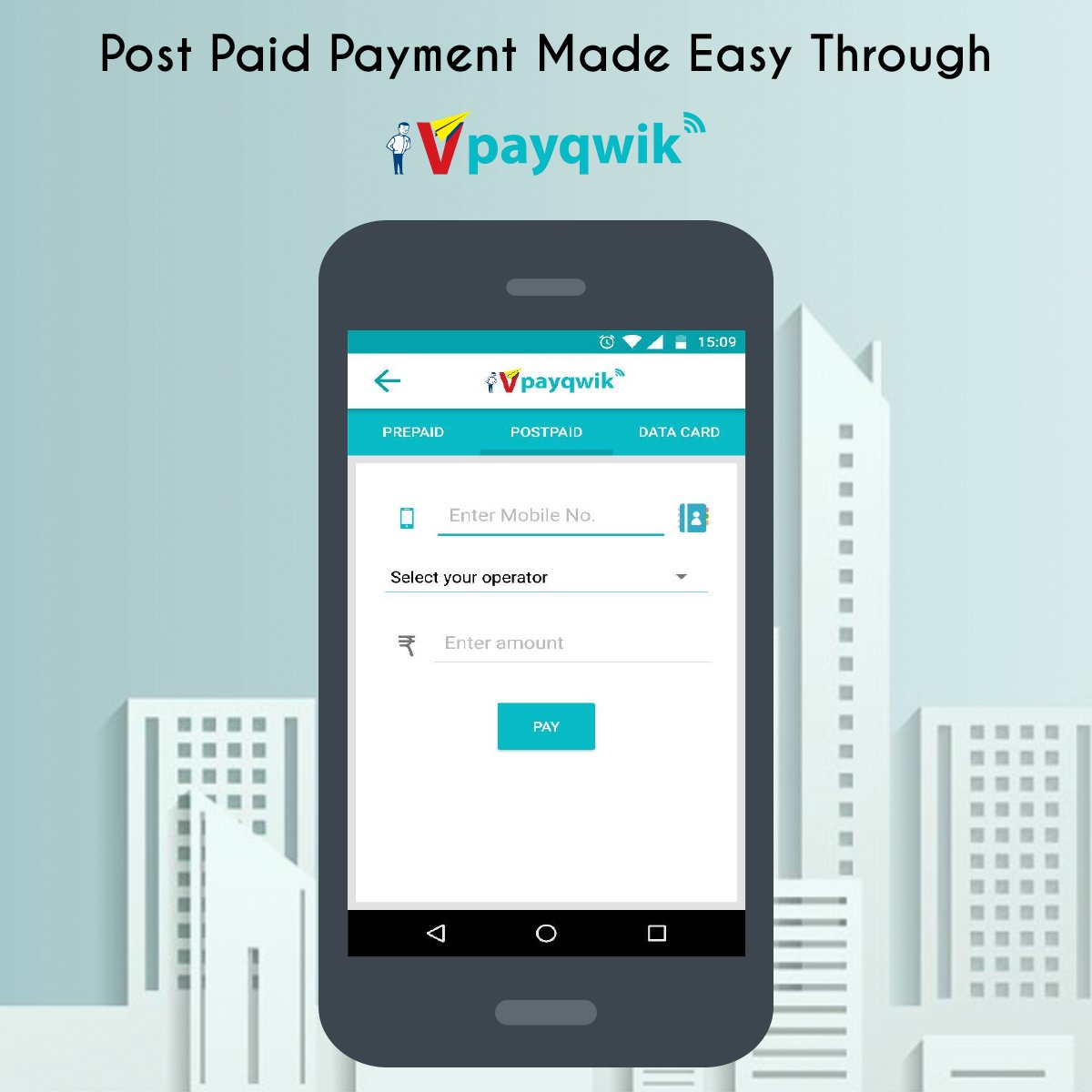 VPayQwik enables you to pay your Post Paid Phone Bills with ease! Download the app now.  #PostPaid #DigitalWallet #trust #DigitalIndia<br>http://pic.twitter.com/Lpt6QHdGLK