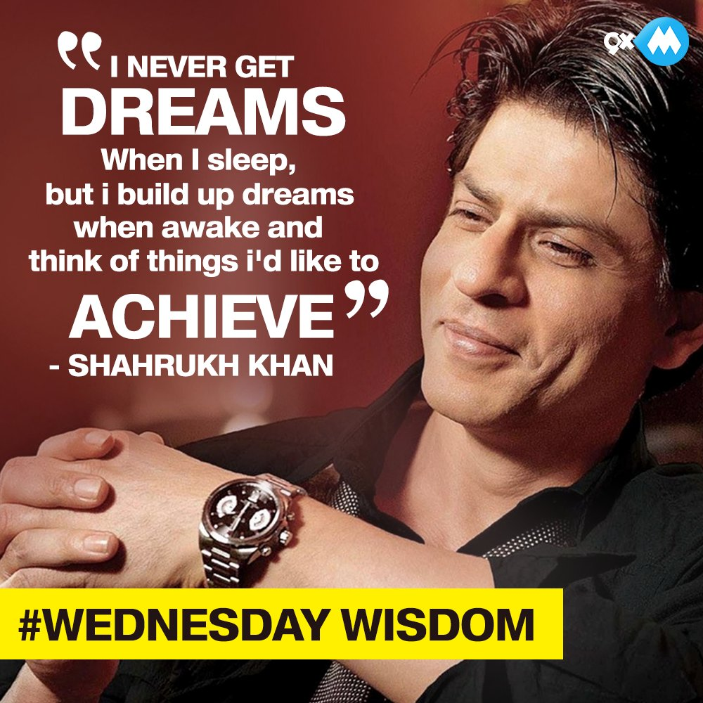 Here is some #WednesdayWisdom from the King Khan @iamsrk himself! RT i...